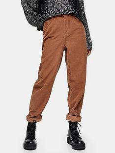 topshop-topshop-32-cord-balloon-leg-jeans-brown