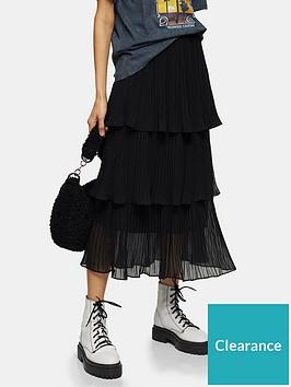 topshop-topshop-tiered-pleat-midi-skirt-black
