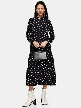 topshop-smock-peplum-midi-shirt-dress-mono