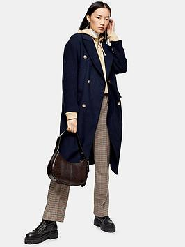 topshop-double-breasted-longline-coat-navy