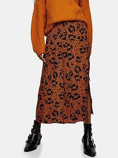 topshop-floral-animal-print-midi-skirt-tan