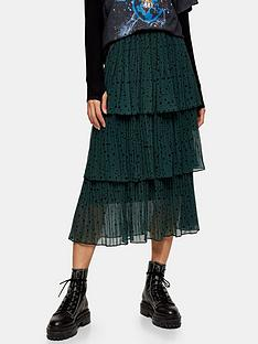 topshop-star-tiered-pleat-midi-skirt-green