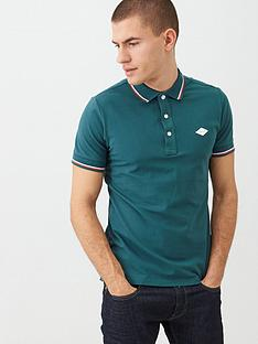 replay-under-collar-branding-tipped-polo-shirt-green