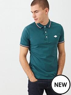 replay-under-collar-branding-tipped-polo-shirt-green