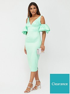 v-by-very-satin-puff-sleeve-midi-dress