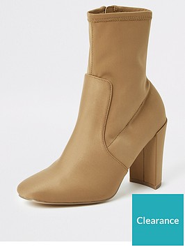 river-island-stretch-sock-boot-beige