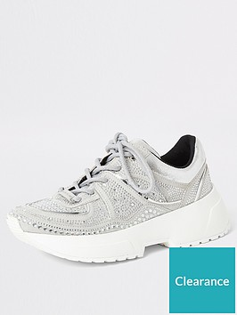 river-island-river-island-diamante-lace-up-chunky-trainers-silver
