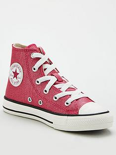 converse-childrens-chuck-taylor-all-star-hi-sparkle-trainers-pink
