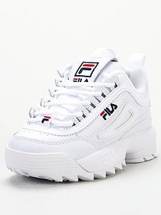 fila-disruptor-childrens-trainers-white
