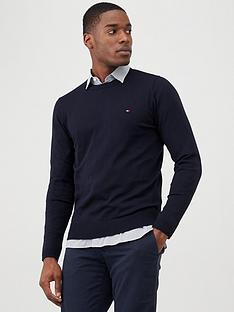 tommy-hilfiger-core-crew-neck-jumper-navy