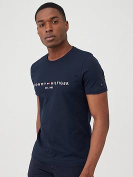 tommy-hilfiger-core-logo-t-shirt-navy
