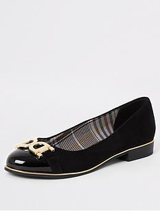 river-island-river-island-wide-fit-snaffle-front-ballet-shoe-black