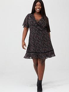 v-by-very-curve-lace-trim-tea-dress-multi