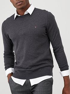 tommy-hilfiger-core-crew-neck-jumper-charcoal