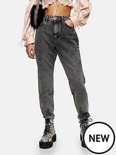 topshop-topshop-petite-rip-hem-mom-jeans-grey