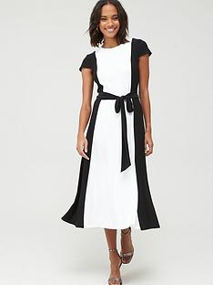 lauren-by-ralph-lauren-murila-cap-sleeve-day-dress-blackwhite