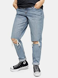 topshop-topshop-maternity-double-rip-bleached-mom-jeans-blue