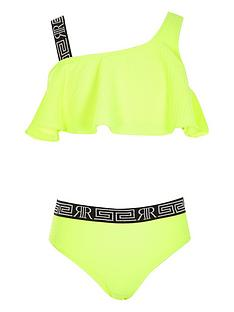 river-island-girls-neon-one-shoulder-bikini-set-yellow