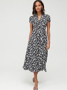 lauren-by-ralph-lauren-amit-short-sleeve-casual-dress-black