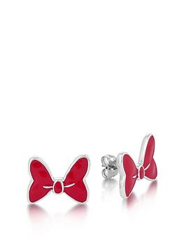 disney-disney-minnie-mouse-large-bow-with-red-enamel-stud-earrings
