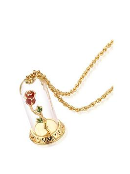 disney-disney-beauty-the-beast-enchanted-rose-in-glass-dome-necklace
