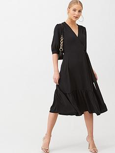v-by-very-sofia-wrap-frill-hem-midi-dress-black
