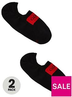 hugo-bodywear-2-pack-trainer-liner-socks-with-logo-black