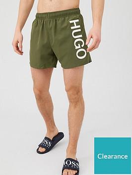hugo-abas-logo-swim-shorts-khaki
