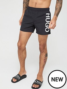 hugo-abas-logo-swim-shorts-black