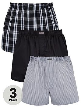calvin-klein-three-pack-woven-boxer-shorts-grey