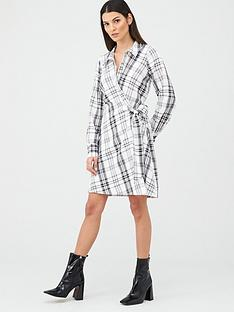 v-by-very-tie-side-formal-tunic-dress-check