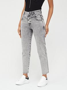 v-by-very-mom-v-yoke-acid-wash-jeans-black
