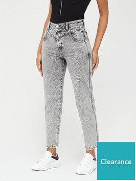 v-by-very-mom-v-yoke-acid-wash-jeans-black