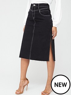 v-by-very-black-side-split-midi-skirt