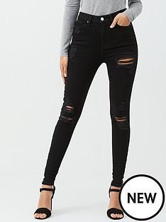 v-by-very-ella-high-waist-random-rip-skinny-jeans-ndash-black