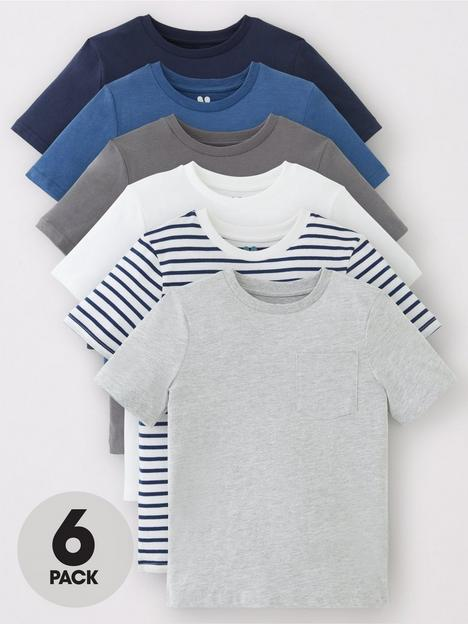 v-by-very-boys-6-pack-short-sleeve-pocket-t-shirts-blues