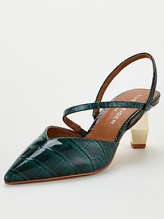 kurt-geiger-london-della-sling-heeled-shoes-dark-green