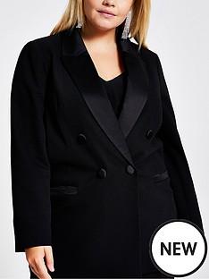 ri-plus-ri-plus-black-double-breasted-satin-trim-jacket-black