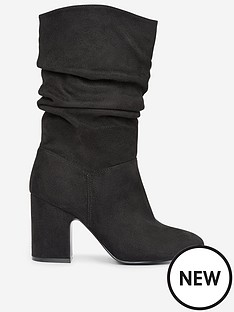 dorothy-perkins-dorothy-perkins-wide-fit-ruched-calf-boots-black