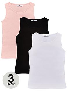 v-by-very-girls-3-pack-rib-vests-multi