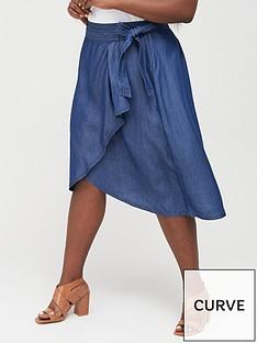 v-by-very-curve-tencel-ruffle-skirt-dark-wash