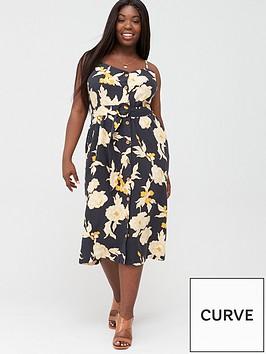 v-by-very-curve-printed-linen-floral-midi-dress-blackfloral
