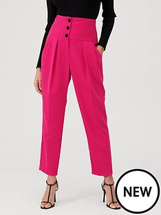 river-island-river-island-high-corset-waist-cigarette-trousers--pink
