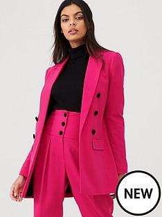 river-island-velvet-button-blazer--pink