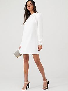 river-island-river-island-shoulder-button-detail-swing-dress--white