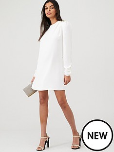 river-island-river-island-shoulder-button-detail-swing-dress--white