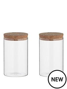 typhoon-monochrome-set-of-two-095-litre-storage-jars-with-cork-lids