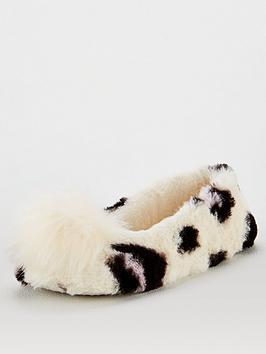 v-by-very-wendy-pom-ballerina-slipper-cream