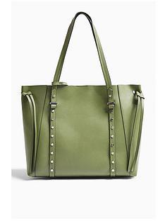 topshop-topshop-stud-dani-tote-bag-green