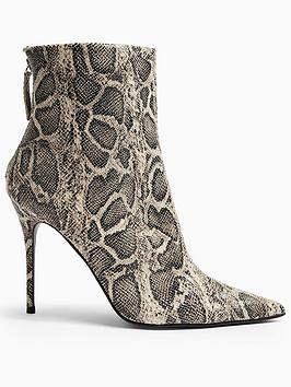 topshop-eda-snake-print-point-boots-grey